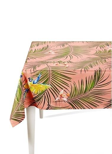 The Mia Parrot Masa Örtüsü - 150 x 150 Cm - Pembe Renkli